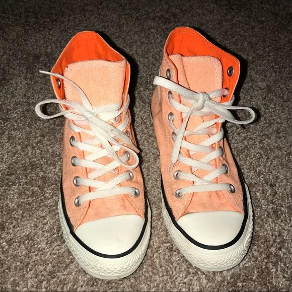 12187dd8b4d Orange High Top Chucks - Converse